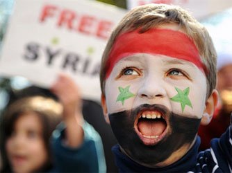 syrian-child-flag-face-paint